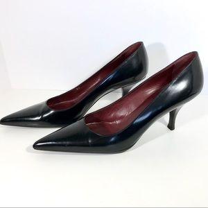 Prada Size 39/8.5 Black Pointy Toe Heels